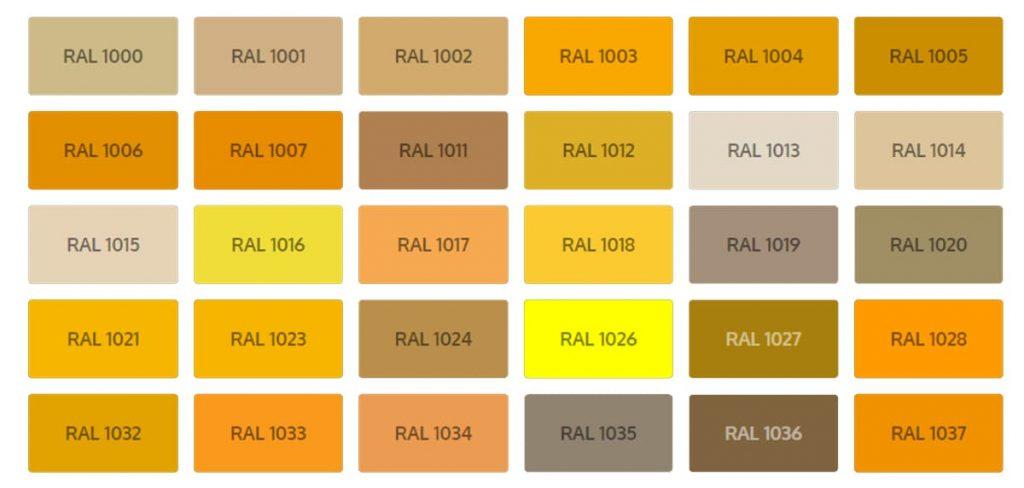 рал каталог цветове